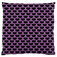 Scales3 Black Marble & Purple Colored Pencil (r) Large Flano Cushion Case (two Sides) by trendistuff
