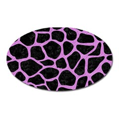 Skin1 Black Marble & Purple Colored Pencil Oval Magnet by trendistuff
