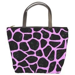 Skin1 Black Marble & Purple Colored Pencil Bucket Bags by trendistuff