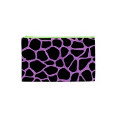 Skin1 Black Marble & Purple Colored Pencil Cosmetic Bag (xs) by trendistuff