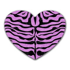 Skin2 Black Marble & Purple Colored Pencil Heart Mousepads by trendistuff