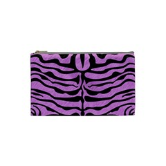 Skin2 Black Marble & Purple Colored Pencil Cosmetic Bag (small)  by trendistuff