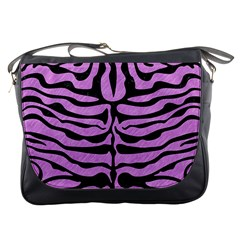 Skin2 Black Marble & Purple Colored Pencil Messenger Bags by trendistuff