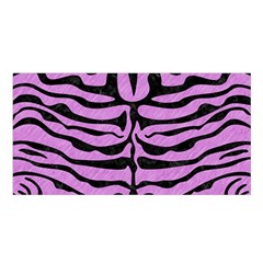 Skin2 Black Marble & Purple Colored Pencil Satin Shawl by trendistuff