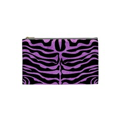 Skin2 Black Marble & Purple Colored Pencil (r) Cosmetic Bag (small)  by trendistuff
