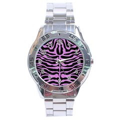 Skin2 Black Marble & Purple Colored Pencil (r) Stainless Steel Analogue Watch by trendistuff