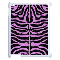 Skin2 Black Marble & Purple Colored Pencil (r) Apple Ipad 2 Case (white) by trendistuff