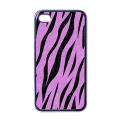 Skin3 Black Marble & Purple Colored Pencil Apple Iphone 4 Case (black) by trendistuff