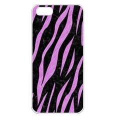 Skin3 Black Marble & Purple Colored Pencil (r) Apple Iphone 5 Seamless Case (white) by trendistuff