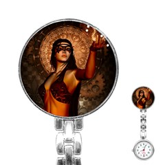 Wonderful Fantasy Women With Mask Stainless Steel Nurses Watch by FantasyWorld7