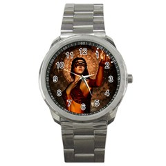 Wonderful Fantasy Women With Mask Sport Metal Watch by FantasyWorld7