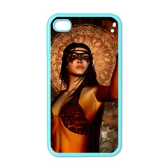 Wonderful Fantasy Women With Mask Apple Iphone 4 Case (color) by FantasyWorld7
