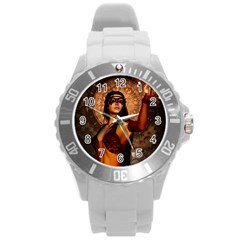 Wonderful Fantasy Women With Mask Round Plastic Sport Watch (l) by FantasyWorld7