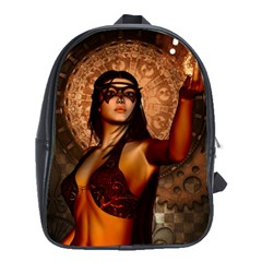 Wonderful Fantasy Women With Mask School Bag (xl) by FantasyWorld7