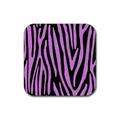 Skin4 Black Marble & Purple Colored Pencil Rubber Square Coaster (4 Pack)  by trendistuff