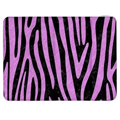 Skin4 Black Marble & Purple Colored Pencil Samsung Galaxy Tab 7  P1000 Flip Case by trendistuff