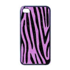 Skin4 Black Marble & Purple Colored Pencil (r) Apple Iphone 4 Case (black) by trendistuff