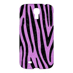 Skin4 Black Marble & Purple Colored Pencil (r) Samsung Galaxy S4 I9500/i9505 Hardshell Case by trendistuff