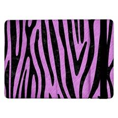 Skin4 Black Marble & Purple Colored Pencil (r) Samsung Galaxy Tab Pro 12 2  Flip Case by trendistuff