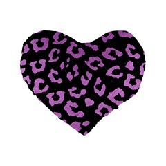 Skin5 Black Marble & Purple Colored Pencil Standard 16  Premium Flano Heart Shape Cushions by trendistuff