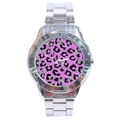 Skin5 Black Marble & Purple Colored Pencil (r) Stainless Steel Analogue Watch by trendistuff