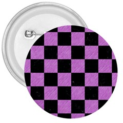 Square1 Black Marble & Purple Colored Pencil 3  Buttons by trendistuff