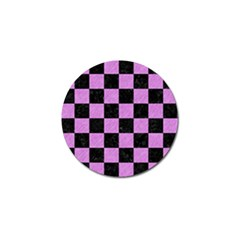 Square1 Black Marble & Purple Colored Pencil Golf Ball Marker (4 Pack) by trendistuff
