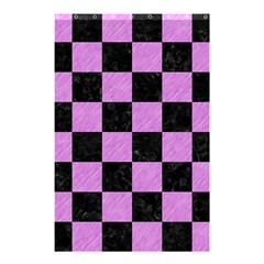 Square1 Black Marble & Purple Colored Pencil Shower Curtain 48  X 72  (small)  by trendistuff