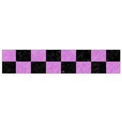 Square1 Black Marble & Purple Colored Pencil Flano Scarf (small) by trendistuff