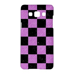 Square1 Black Marble & Purple Colored Pencil Samsung Galaxy A5 Hardshell Case  by trendistuff