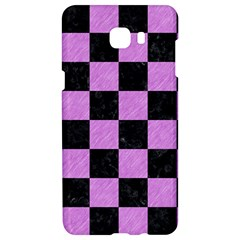 Square1 Black Marble & Purple Colored Pencil Samsung C9 Pro Hardshell Case  by trendistuff