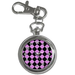 Square2 Black Marble & Purple Colored Pencil Key Chain Watches by trendistuff