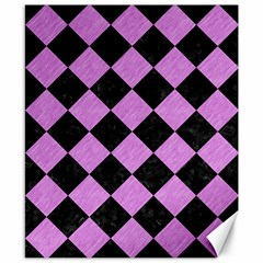 Square2 Black Marble & Purple Colored Pencil Canvas 8  X 10  by trendistuff