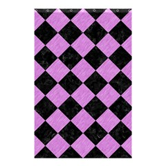 Square2 Black Marble & Purple Colored Pencil Shower Curtain 48  X 72  (small)  by trendistuff