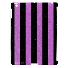 Stripes1 Black Marble & Purple Colored Pencil Apple Ipad 3/4 Hardshell Case (compatible With Smart Cover) by trendistuff