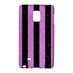 Stripes1 Black Marble & Purple Colored Pencil Galaxy Note Edge by trendistuff