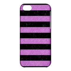 Stripes2 Black Marble & Purple Colored Pencil Apple Iphone 5c Hardshell Case by trendistuff