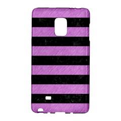 Stripes2 Black Marble & Purple Colored Pencil Galaxy Note Edge by trendistuff