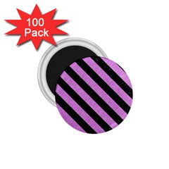 Stripes3 Black Marble & Purple Colored Pencil 1 75  Magnets (100 Pack)  by trendistuff