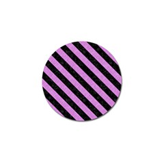 Stripes3 Black Marble & Purple Colored Pencil Golf Ball Marker (4 Pack) by trendistuff