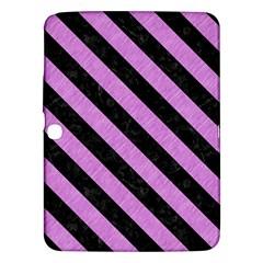 Stripes3 Black Marble & Purple Colored Pencil Samsung Galaxy Tab 3 (10 1 ) P5200 Hardshell Case  by trendistuff