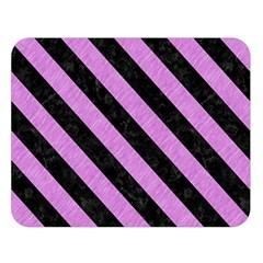 Stripes3 Black Marble & Purple Colored Pencil Double Sided Flano Blanket (large)  by trendistuff