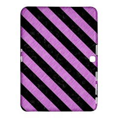 Stripes3 Black Marble & Purple Colored Pencil Samsung Galaxy Tab 4 (10 1 ) Hardshell Case  by trendistuff