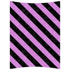 Stripes3 Black Marble & Purple Colored Pencil Back Support Cushion by trendistuff