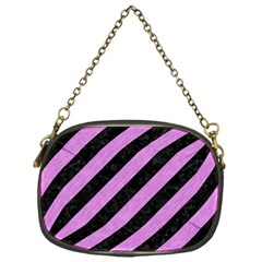 Stripes3 Black Marble & Purple Colored Pencil (r) Chain Purses (one Side)  by trendistuff