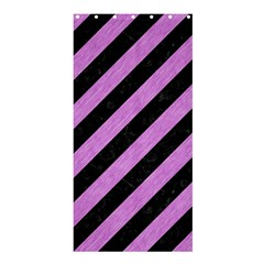 Stripes3 Black Marble & Purple Colored Pencil (r) Shower Curtain 36  X 72  (stall)  by trendistuff