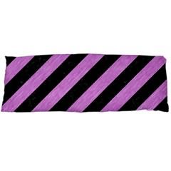 Stripes3 Black Marble & Purple Colored Pencil (r) Body Pillow Case (dakimakura)
