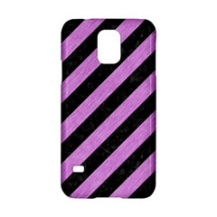 Stripes3 Black Marble & Purple Colored Pencil (r) Samsung Galaxy S5 Hardshell Case  by trendistuff