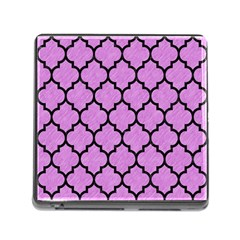Tile1 Black Marble & Purple Colored Pencil Memory Card Reader (square) by trendistuff