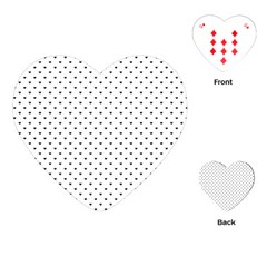 Classic Black Polka Dot Hearts Magic Color Swop Playing Cards (heart) by Beachlux